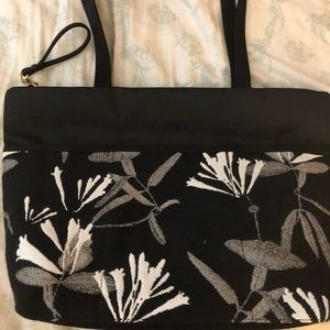 Danny K, made in USA, black purse w/ floral detail